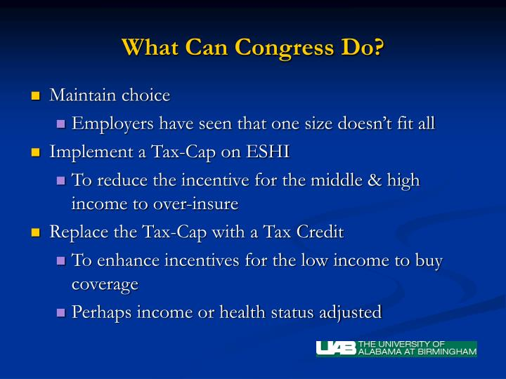 What Can Congress Do?