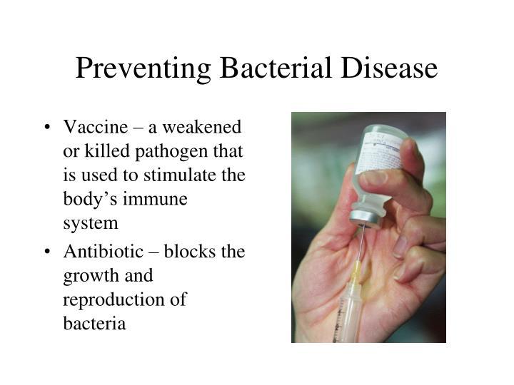 Preventing Bacterial Disease