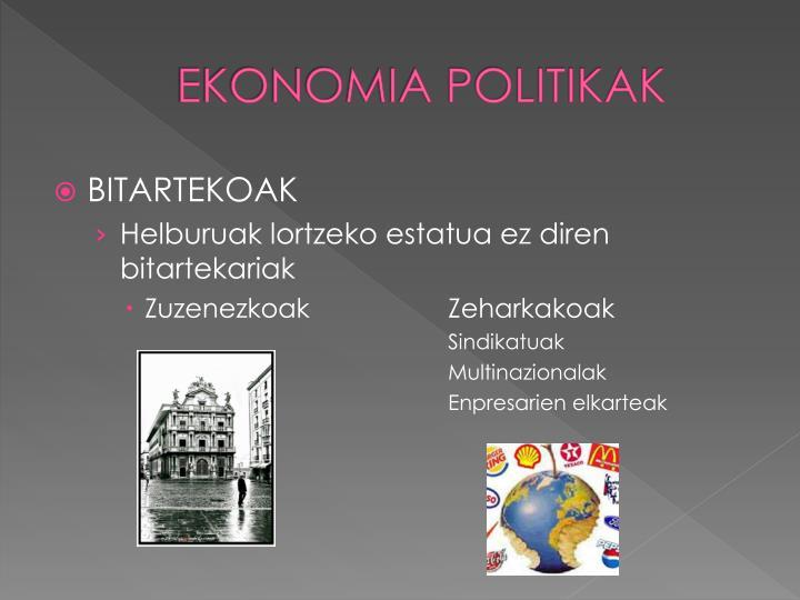 EKONOMIA POLITIKAK
