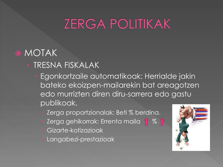 ZERGA POLITIKAK
