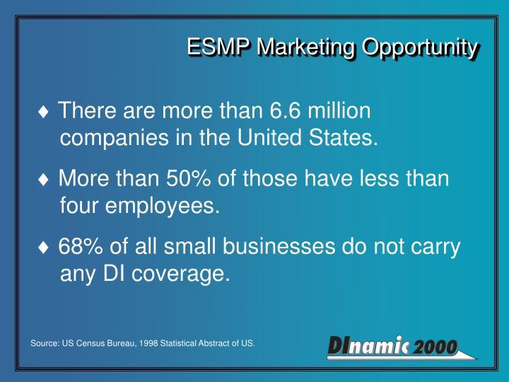 ESMP Marketing Opportunity