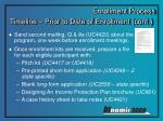 timeline prior to date of enrollment cont1