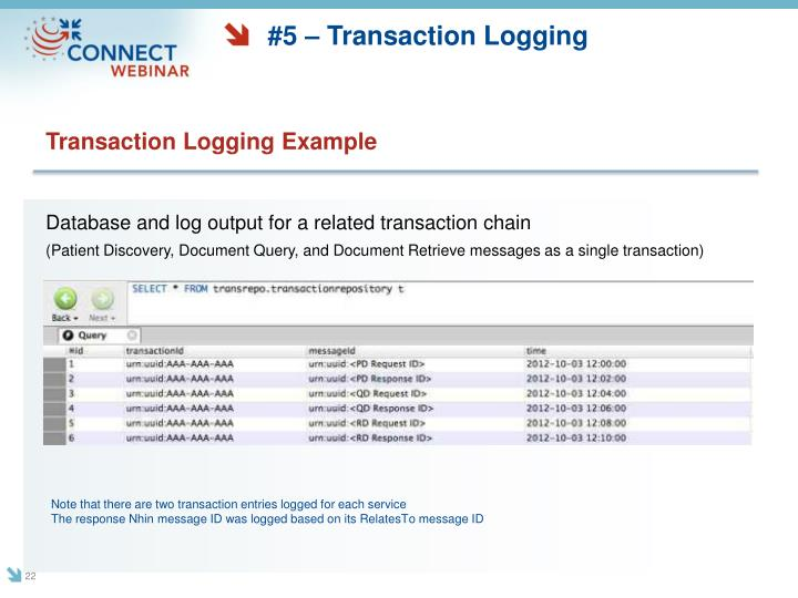 #5 – Transaction Logging