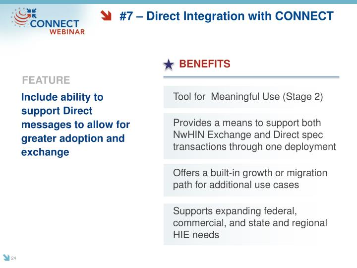 #7 – Direct Integration with CONNECT