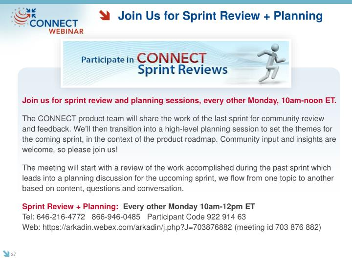 Join Us for Sprint Review + Planning