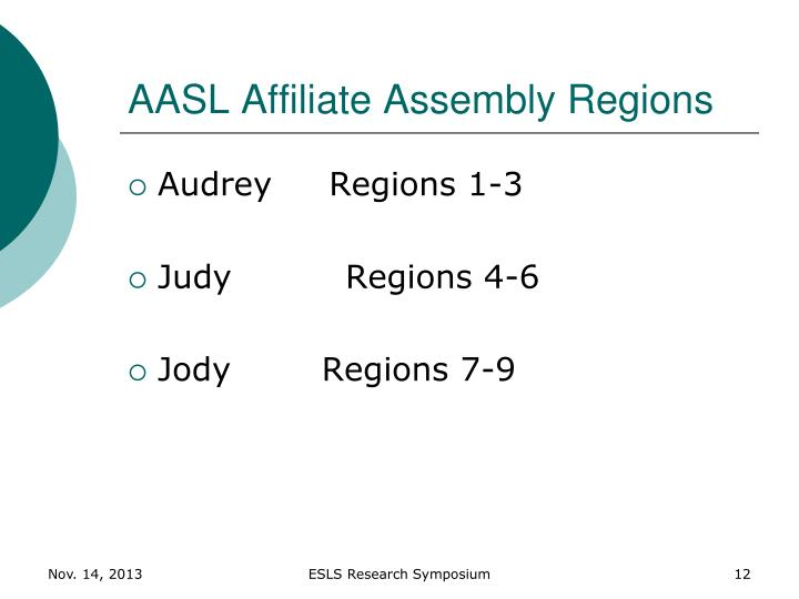 AASL Affiliate Assembly Regions
