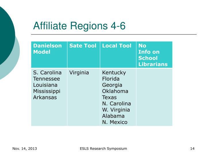 Affiliate Regions 4-6