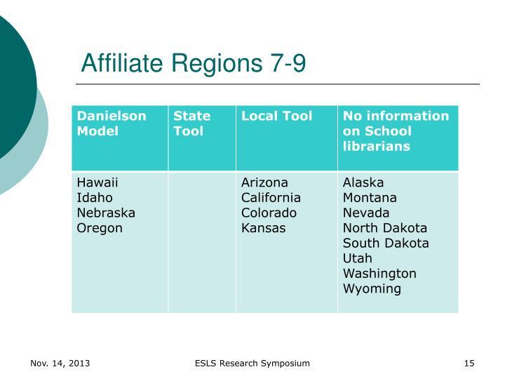 Affiliate Regions 7-9