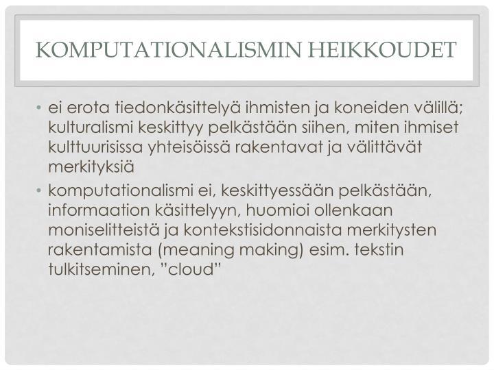 Komputationalismin