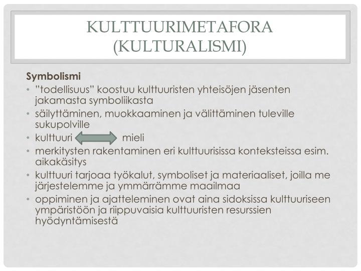 Kulttuurimetafora (