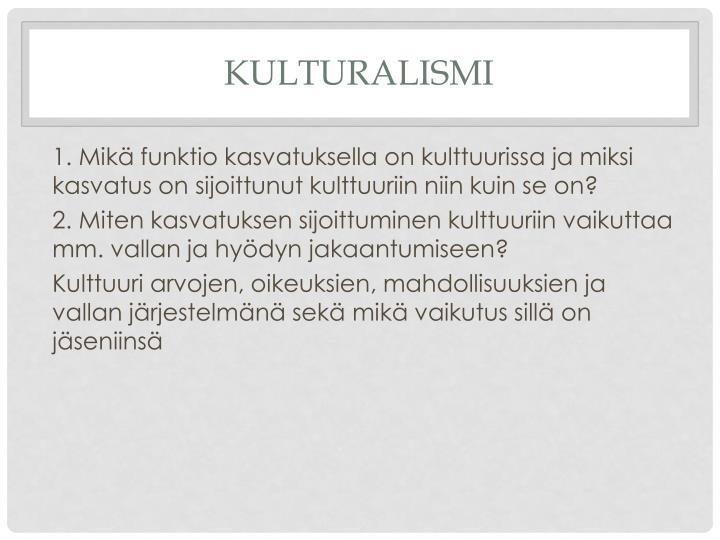 kulturalismi