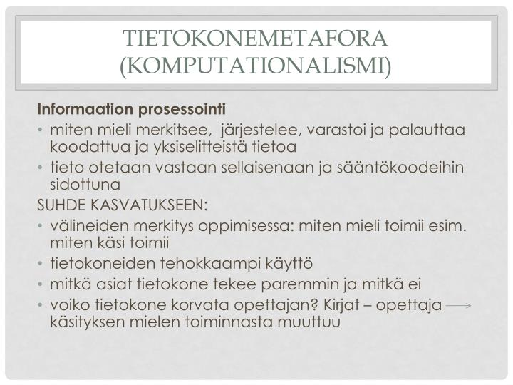 Tietokonemetafora (