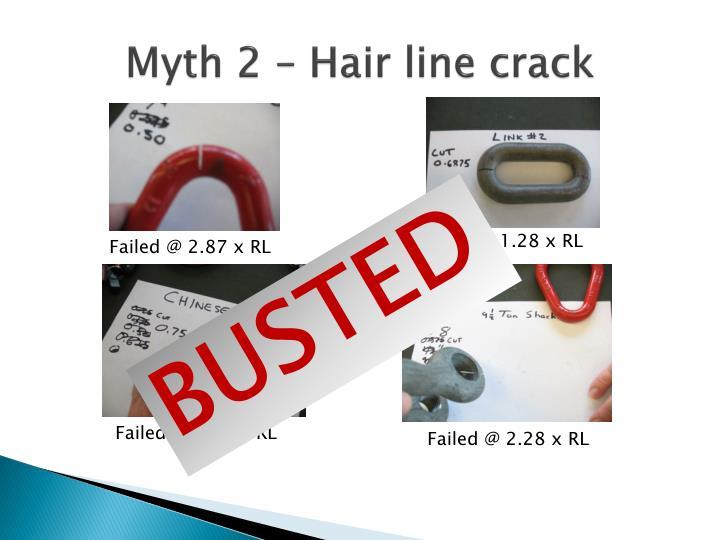 Myth 2 – Hair line crack