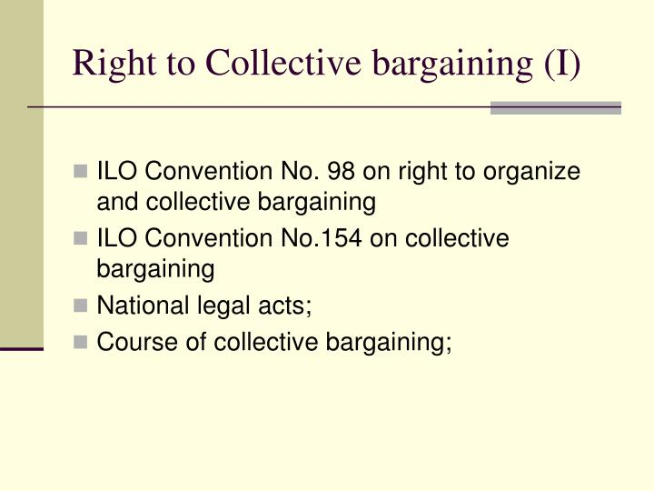 Right to Collective bargaining