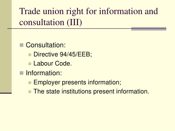 Trade union right for
