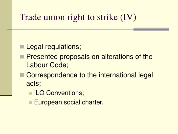 Trade union right to strike