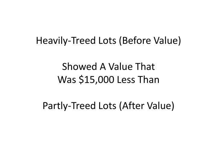 Heavily-Treed Lots (Before Value)