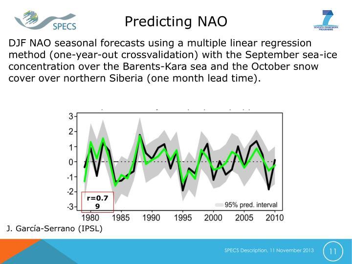 Predicting NAO