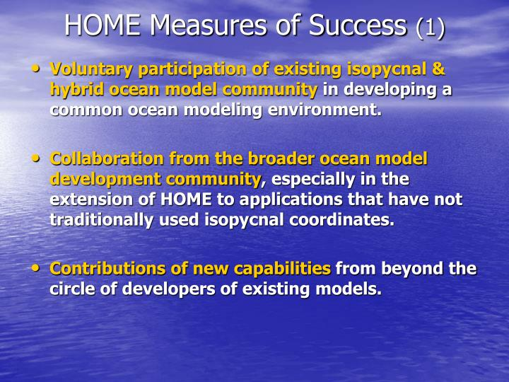 Voluntary participation of existing isopycnal & hybrid ocean model community