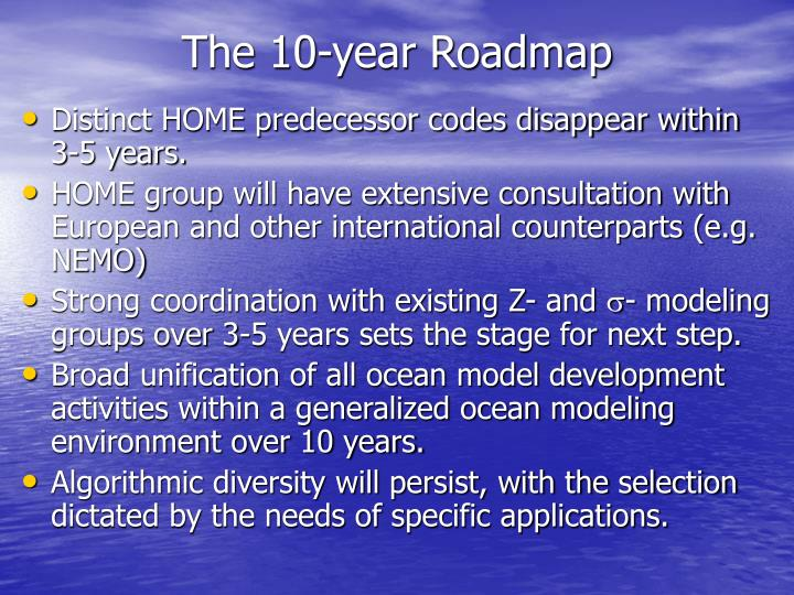 The 10-year Roadmap