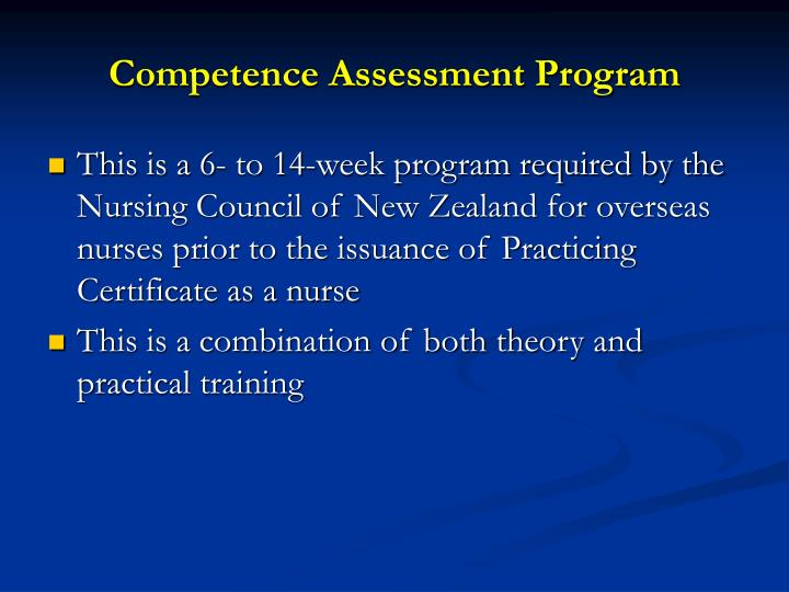 Competence Assessment Program