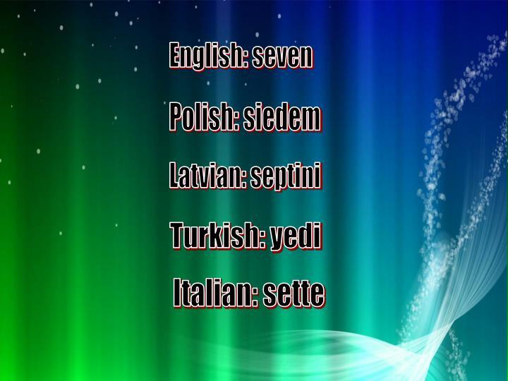 English: seven
