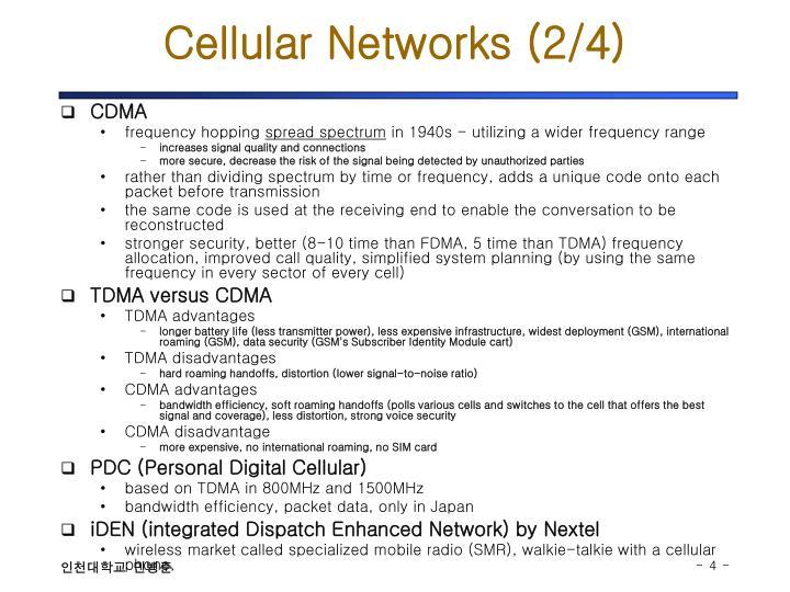 Cellular Networks (2/4)