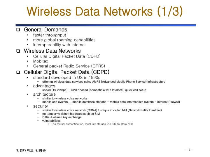 Wireless Data Networks (1/3)