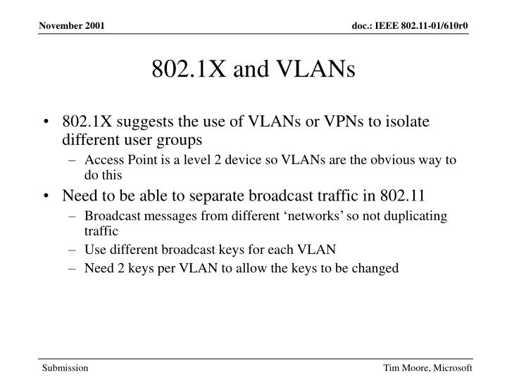 802.1X and VLANs