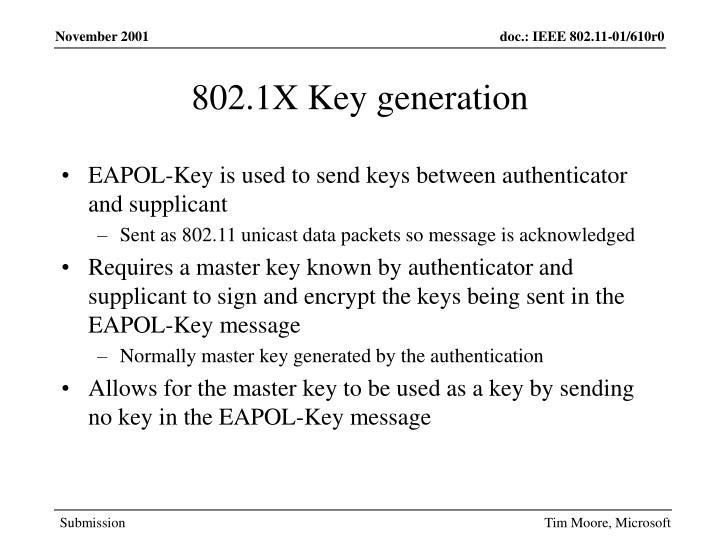 802.1X Key generation