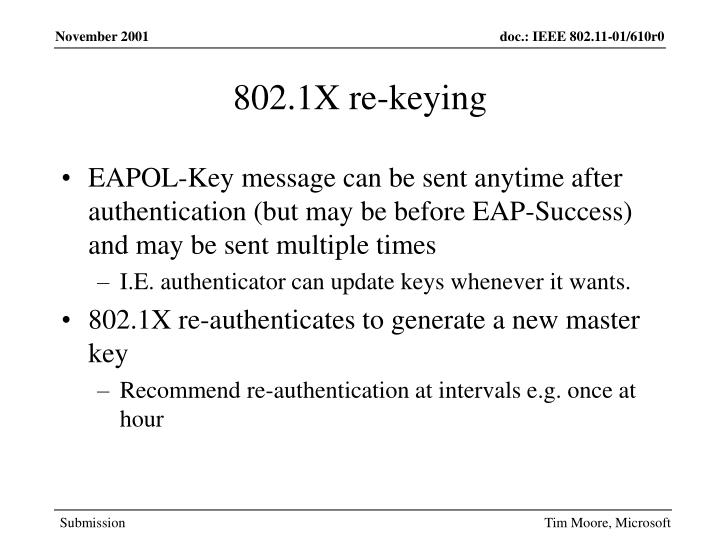 802.1X re-keying