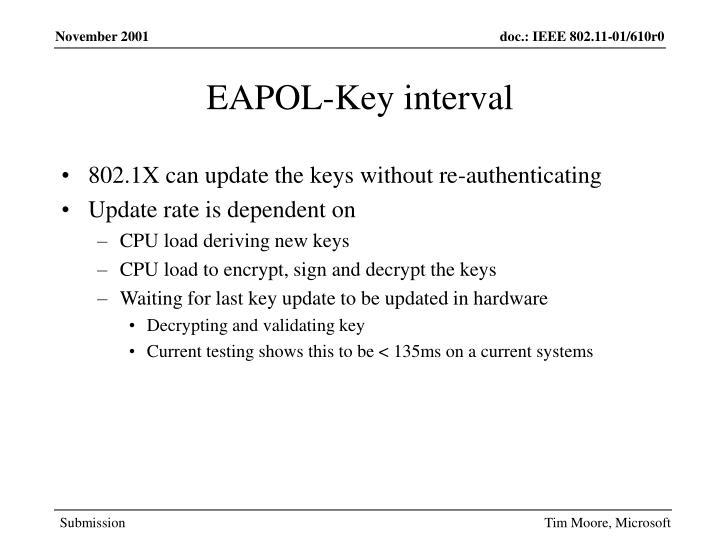 EAPOL-Key interval