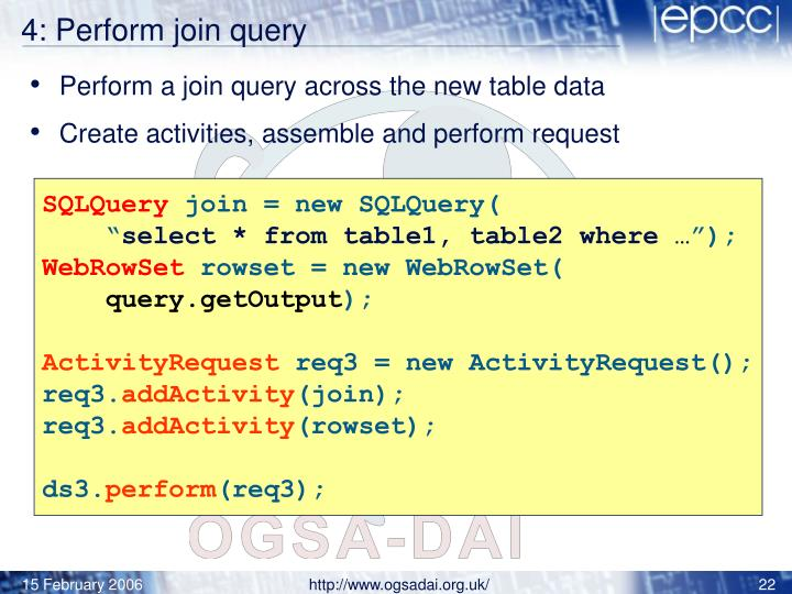 4: Perform join query