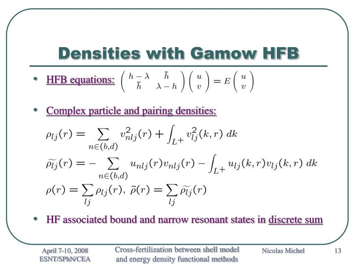 Densities with Gamow HFB