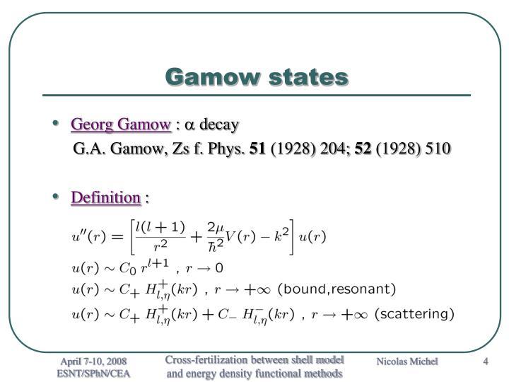 Gamow states
