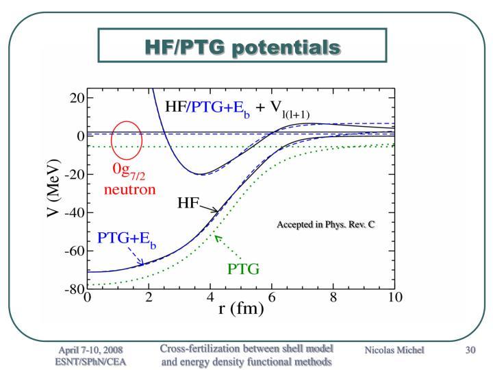 HF/PTG potentials