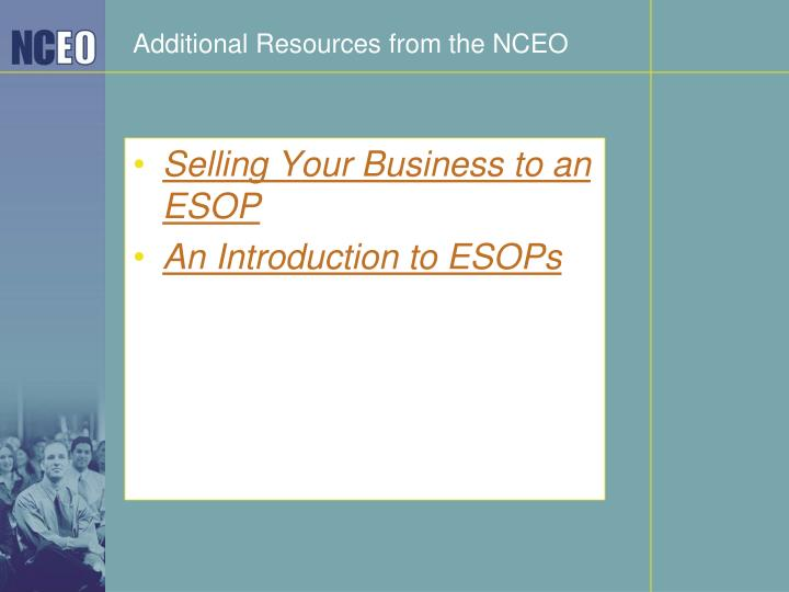Additional Resources from the NCEO