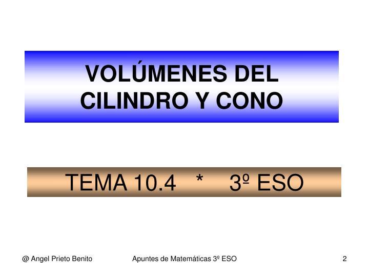 TEMA 10.4   *    3º ESO