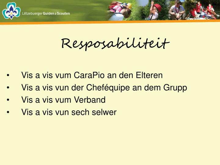 Resposabiliteit