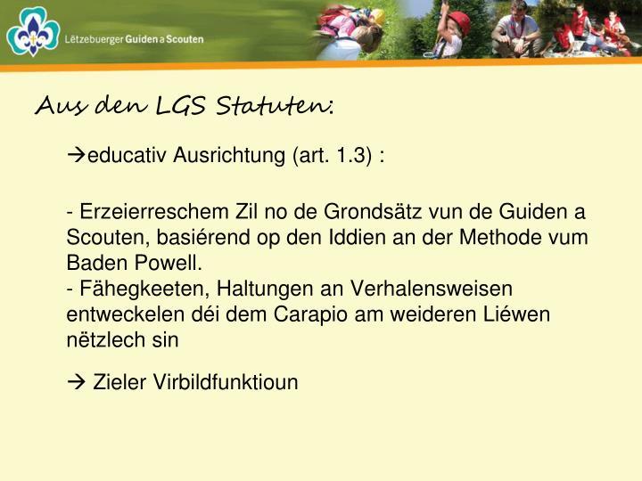 Aus den LGS Statuten