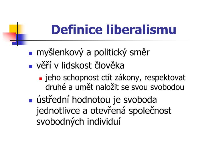 Definice liberalismu