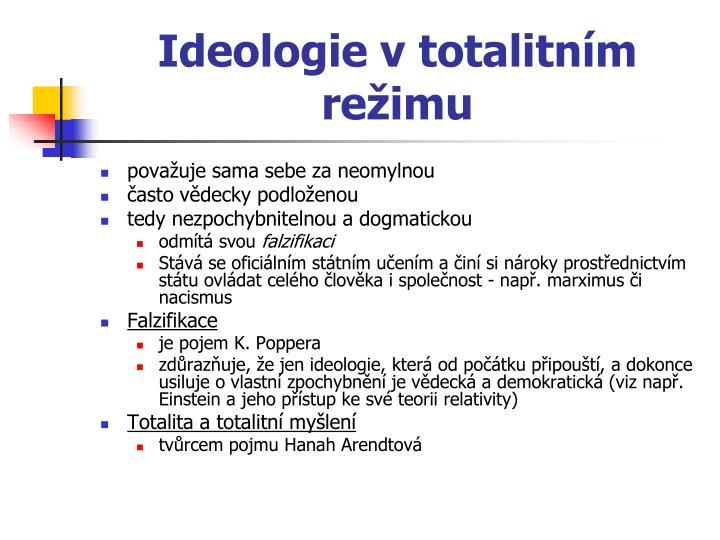 Ideologie vtotalitním režimu