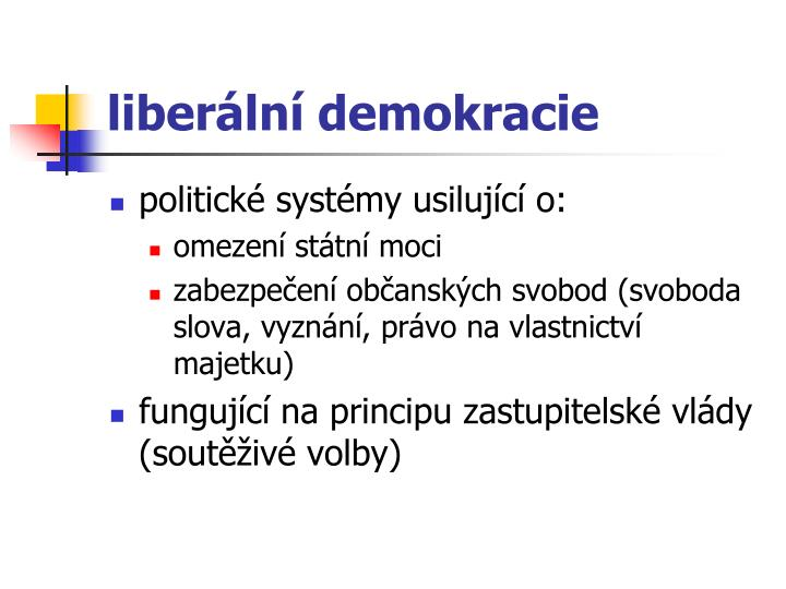 liberální demokracie