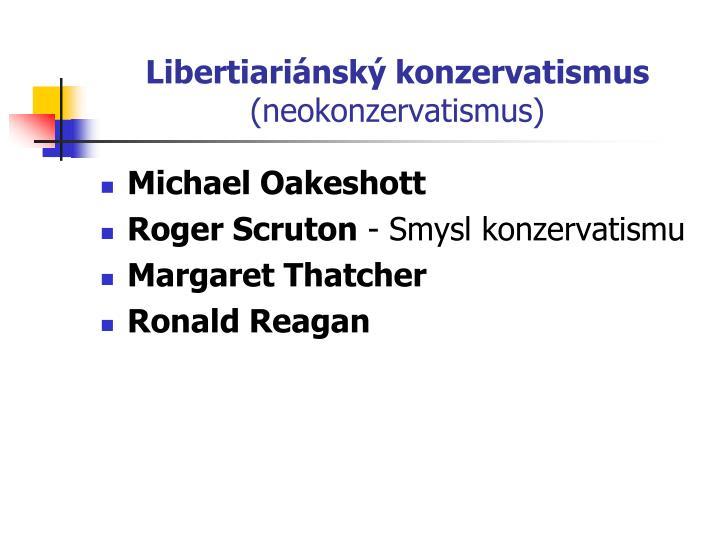 Libertiariánský konzervatismus