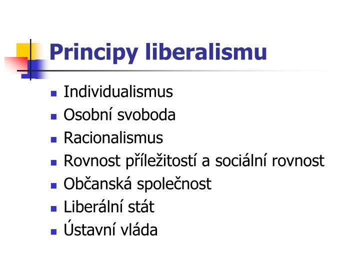 Principy liberalismu