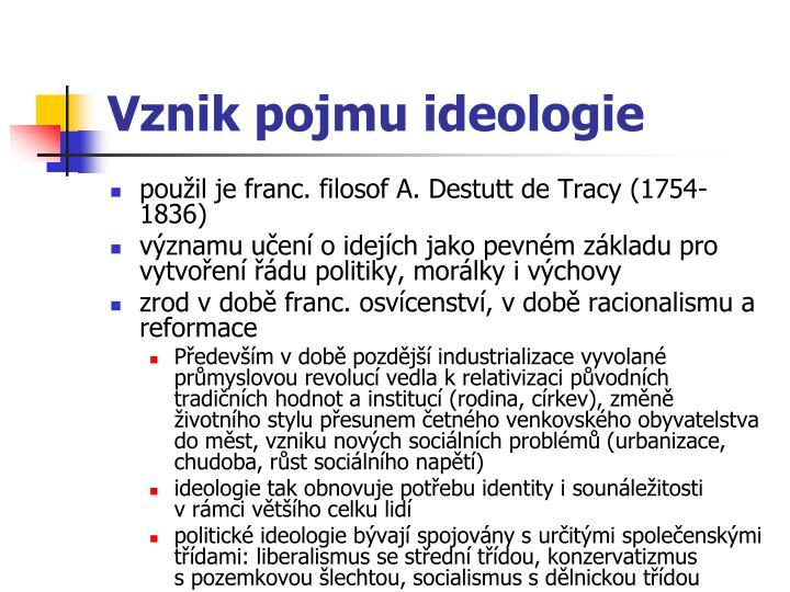 Vznik pojmu ideologie