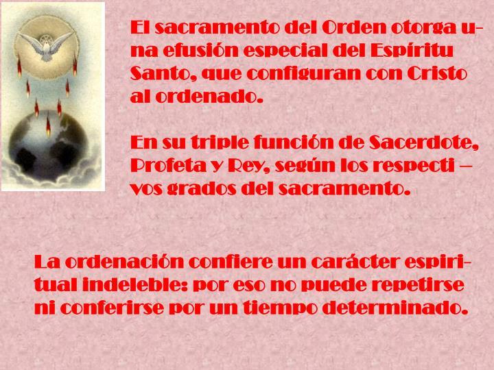 El sacramento del Orden otorga u-