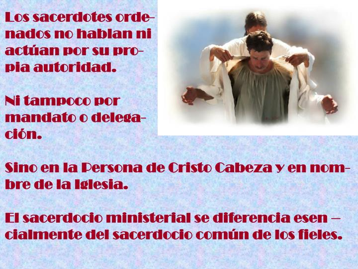 Los sacerdotes orde-