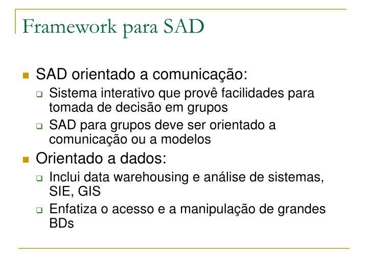 Framework para SAD