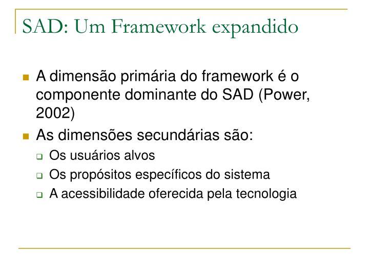 SAD: Um Framework expandido